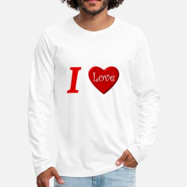 I Love I love I love in Love - Men's Premium Longsleeve Shirt