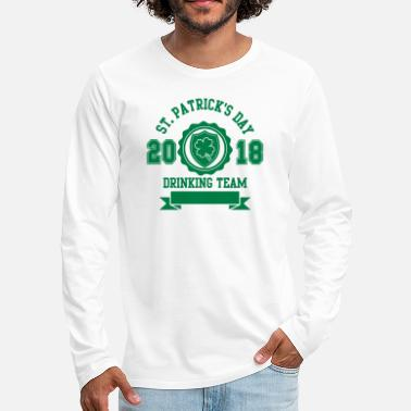 Irish St. Patricks day drinking Team 2018 - Bier -Irisch - Men's Premium Longsleeve Shirt