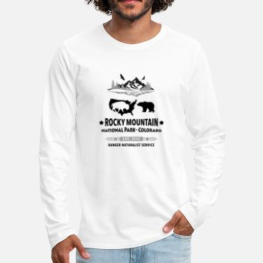 Rocky Mountain National Park Mountain Bison Grizzly Beer - Mannen Premium shirt met lange mouwen