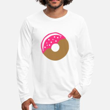 Frost Donut with frosting - Men's Premium Longsleeve Shirt