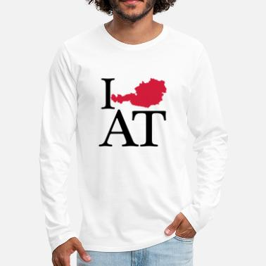 I Love I love AT - I love Austria - Men's Premium Longsleeve Shirt