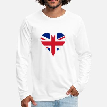 Gb GB Heart - Men's Premium Longsleeve Shirt