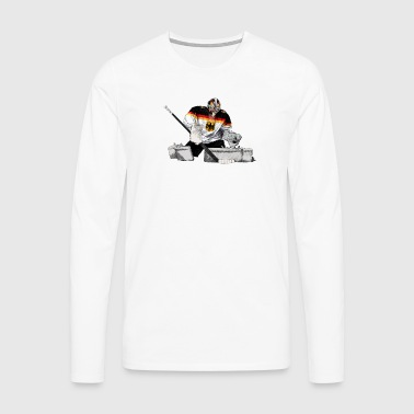 Hockey goalkeeper - Men's Premium Longsleeve Shirt