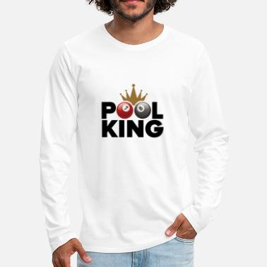 Pool Pool king - T-shirt manches longues Premium Homme