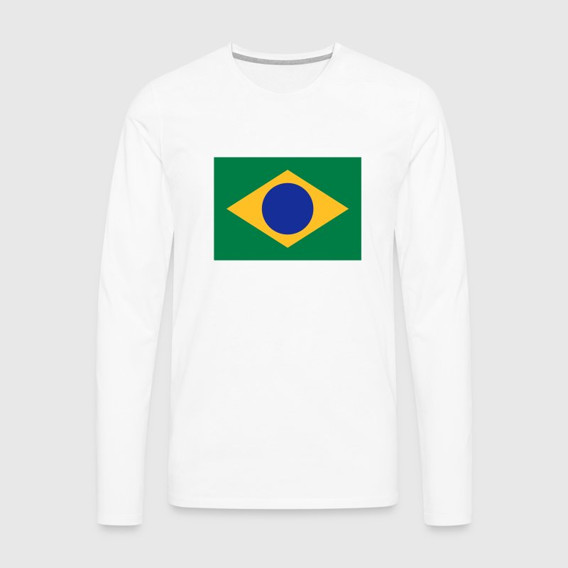 National flag of Brazil - Men's Premium Longsleeve Shirt