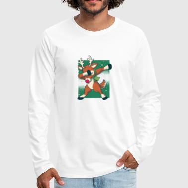 Cool and modern Christmas, dancing stag - Men's Premium Longsleeve Shirt
