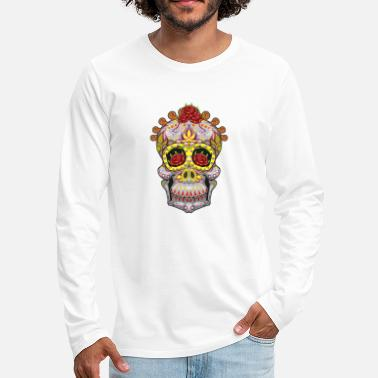 Day Of The Dead Sugar Skull Day Of The Dead Halloween - Men's Premium Longsleeve Shirt