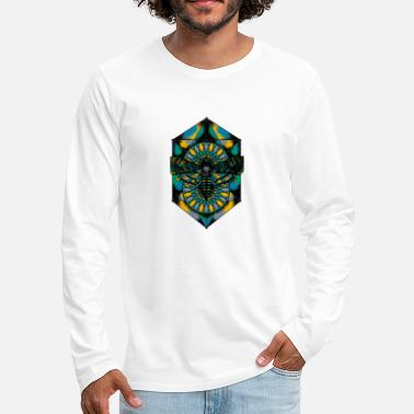 Awesome Trippy Psychedelic Moth - Men's Premium Longsleeve Shirt