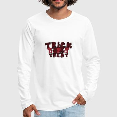 Trick ou Treat Halloween Trick or Treat - T-shirt manches longues Premium Homme