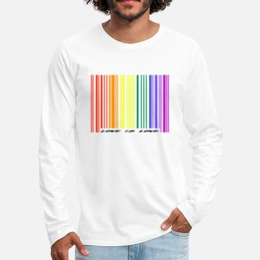 Pride Love is Love / Gay / LGBT / Pride / Gift Idea - Mannen Premium shirt met lange mouwen