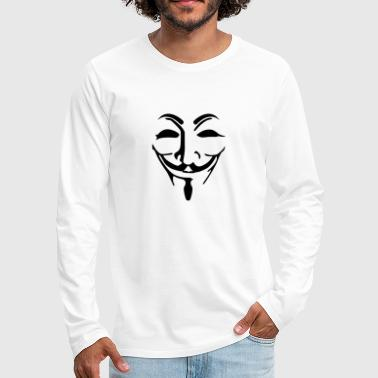 Anonymous mask fawkes - T-shirt manches longues Premium Homme