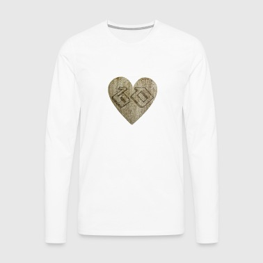 60 years - heart - Men's Premium Longsleeve Shirt