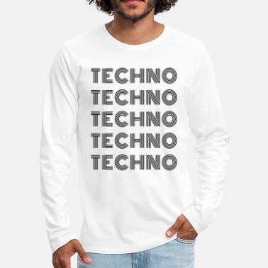 techno - bananaharvest - Men's Premium Longsleeve Shirt