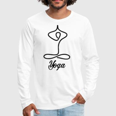 Klasse Funny Yoga for Women & Men | Namaste Om Meditation Light - Herre premium T-shirt med lange ærmer