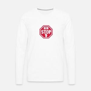 panneau non stop biere alcool verre T-shirt manches longues premium ... 7a9486a528fc