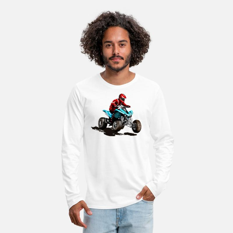 Bike Long Sleeve Shirts - ATV - Men's Premium Longsleeve Shirt white
