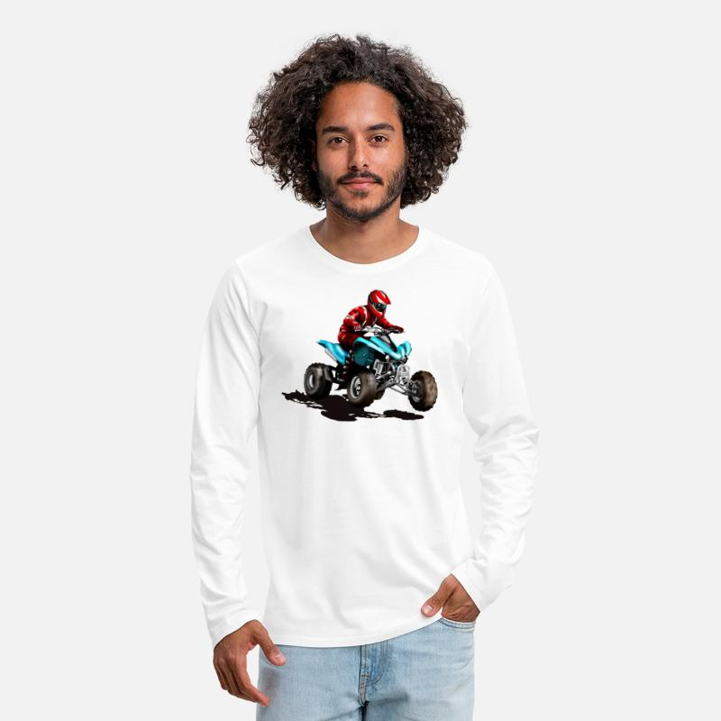 Quad-bike Long Sleeve Shirts - ATV - Men's Premium Longsleeve Shirt white