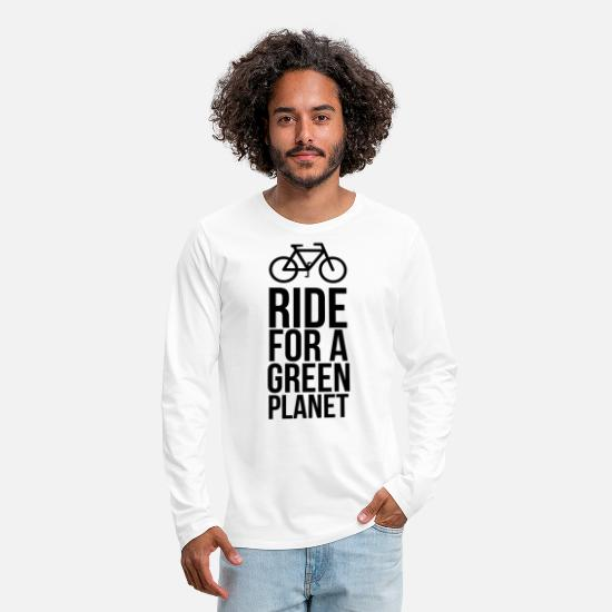 Bicyclette Long sleeve shirts - racer - Men's Premium Longsleeve Shirt white