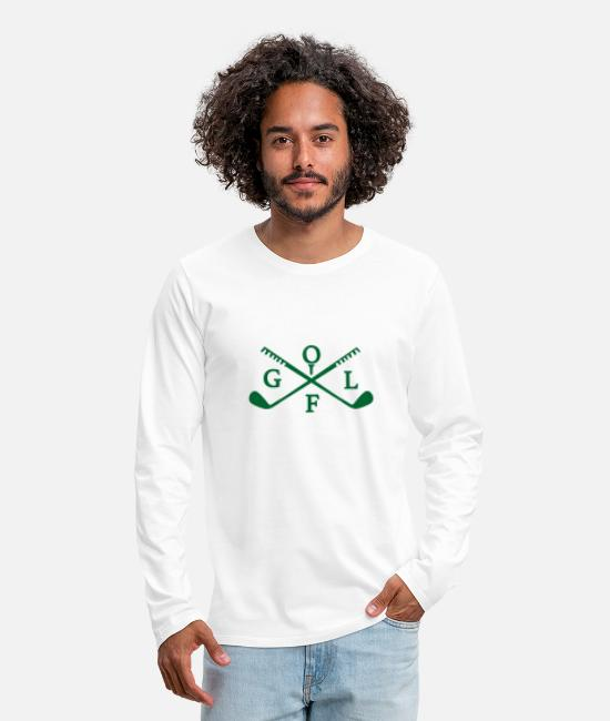 Christmas Long-Sleeved Shirts - Golf club - Men's Premium Longsleeve Shirt white