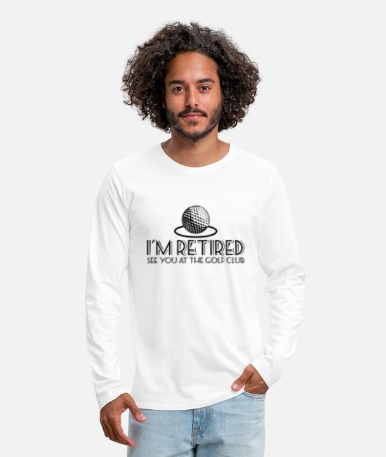 Christmas Long-Sleeved Shirts - See You At The Golf Club - Men's Premium Longsleeve Shirt white