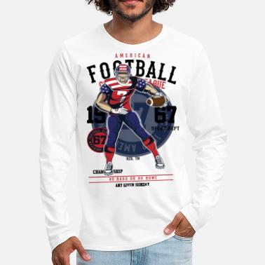 Sunday Football American Football Any Given Sunday Trend - Männer Premium Langarmshirt
