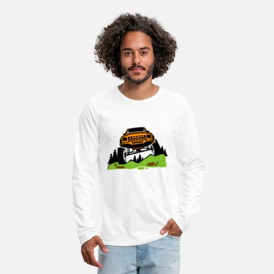 Suv Long sleeve shirts - Offroad mountains - Men's Premium Longsleeve Shirt white