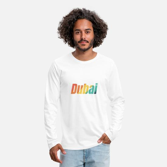 Gift Idea Long sleeve shirts - Dubai lettering - Men's Premium Longsleeve Shirt white