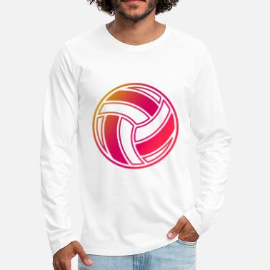Volley Volleyball symbol sport icon - Men's Premium Longsleeve Shirt