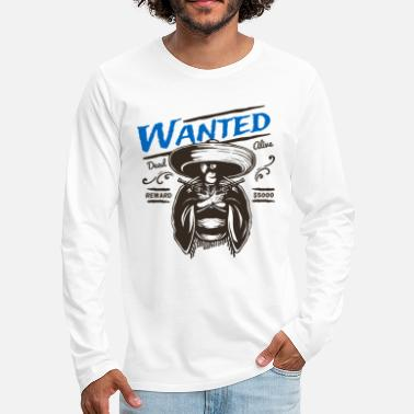 Outlaw Outlaw Bandit Wanted - Men's Premium Longsleeve Shirt