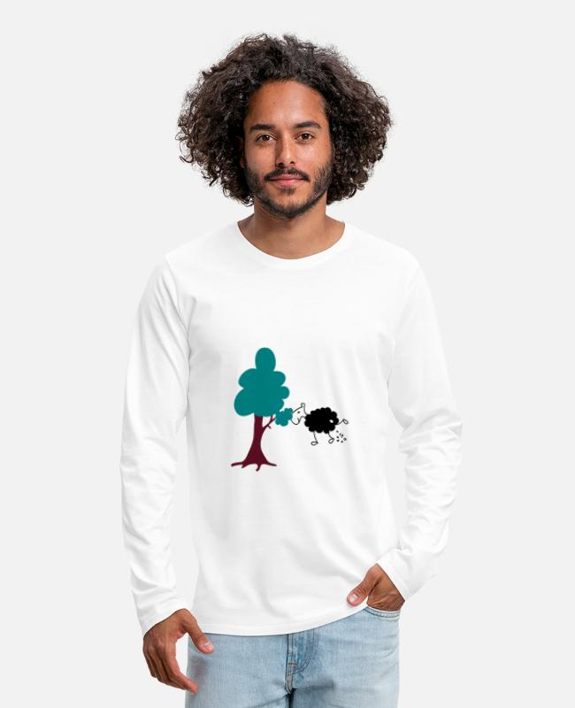 Nature Long-Sleeved Shirts - Schwarzes Schaf Pisser / Sheep in wolf's clothing - Men's Premium Longsleeve Shirt white