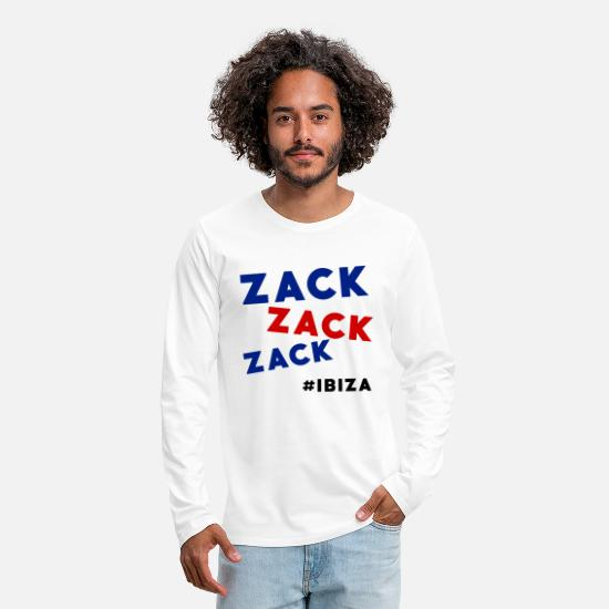 Scandale Manches longues - Zack Zack Zack Ibiza 2017 - T-shirt manches longues premium Homme blanc