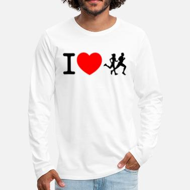Sprinten I love racing - jogging - Men's Premium Longsleeve Shirt