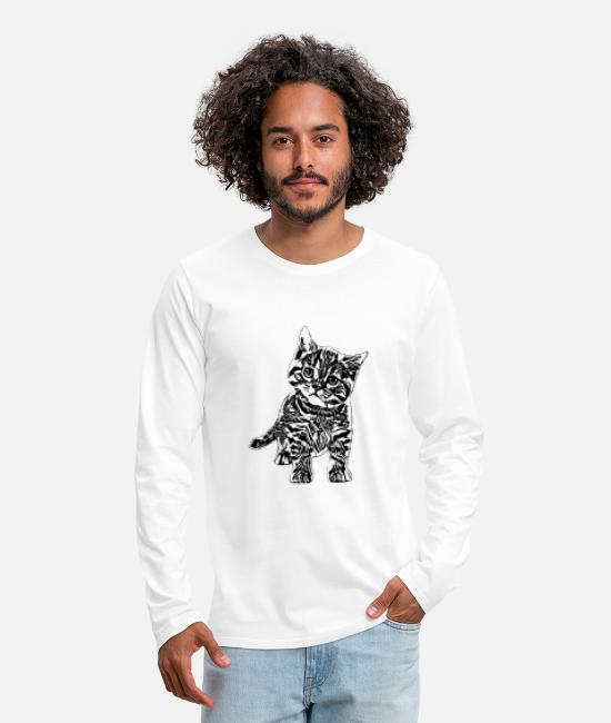 Motive Long Sleeve Shirts - kitten - Men's Premium Longsleeve Shirt white
