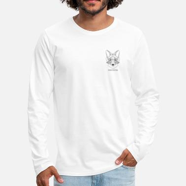 Drawing SPARE CLOTHING FOX DESIGN - Mannen premium longsleeve
