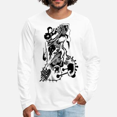 Abstract Wdololo Abstract - Men's Premium Longsleeve Shirt