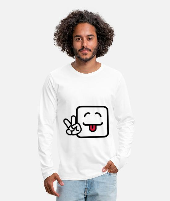 Funny Pictures Long sleeve shirts - Grimace with tongue - Men's Premium Longsleeve Shirt white