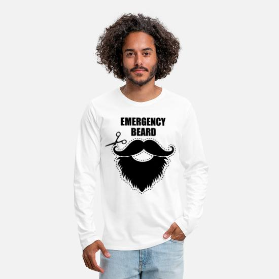 Rock 'n' Roll Long Sleeve Shirts - beard mustache - Men's Premium Longsleeve Shirt white