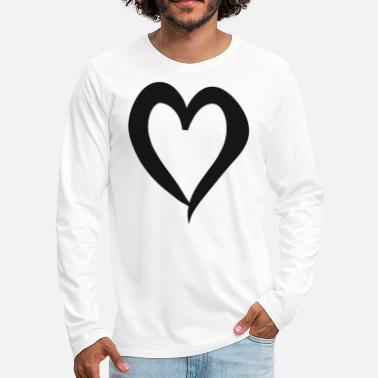 Affection Heart love valentines day gift couple hearts love - Men's Premium Longsleeve Shirt