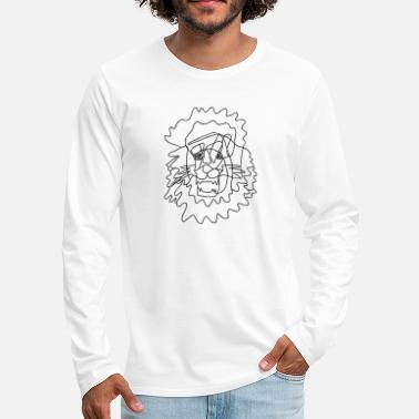 Dessin Au Trait Lion - Dessin au trait - Dessin au trait - T-shirt manches longues premium Homme