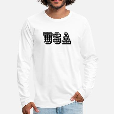USA United States of America flag flag - Men's Premium Longsleeve Shirt