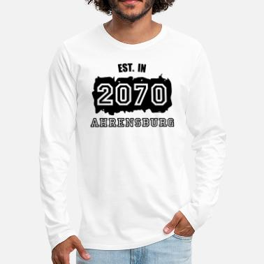 2070 Established 2070 Ahrensburg - Männer Premium Langarmshirt