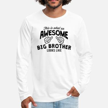 this is what an awesome big brother look - Men's Premium Longsleeve Shirt