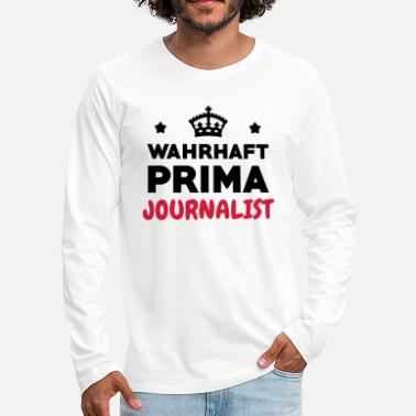 Sport journaliste / journalisme / journal / reporter - T-shirt manches longues premium Homme