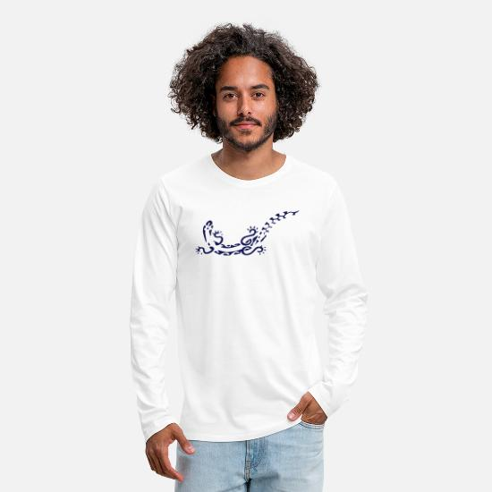 Tattoo Long sleeve shirts - gecko - Men's Premium Longsleeve Shirt white