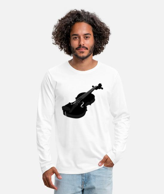 Artist Long-Sleeved Shirts - Violine schwarz 2 - Men's Premium Longsleeve Shirt white