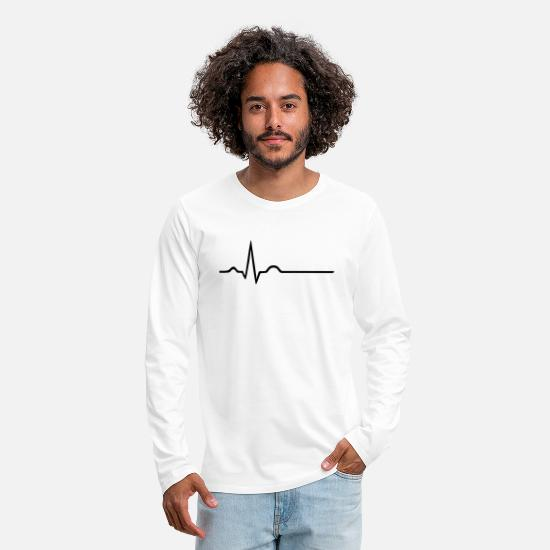 Practice Long sleeve shirts - ECG - Paramedic - Doctor - Doctor on call - Men's Premium Longsleeve Shirt white