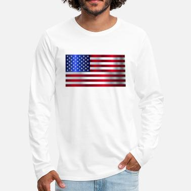 Stars And Stripes Drapeau américain Stars and Stripes - T-shirt manches longues premium Homme