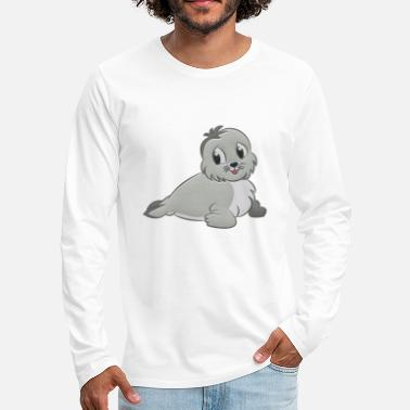 Seal-animal Seal stuffed animal - Men's Premium Longsleeve Shirt