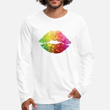 D0090005 Colorful Lips / Colorful Lips - Men's Premium Longsleeve Shirt