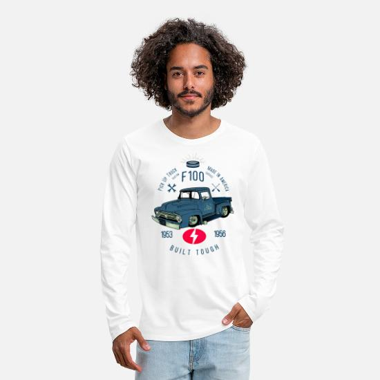 Bikes And Cars Collection V2 Shirts met lange mouwen - F100 Built Tough - Mannen premium longsleeve wit